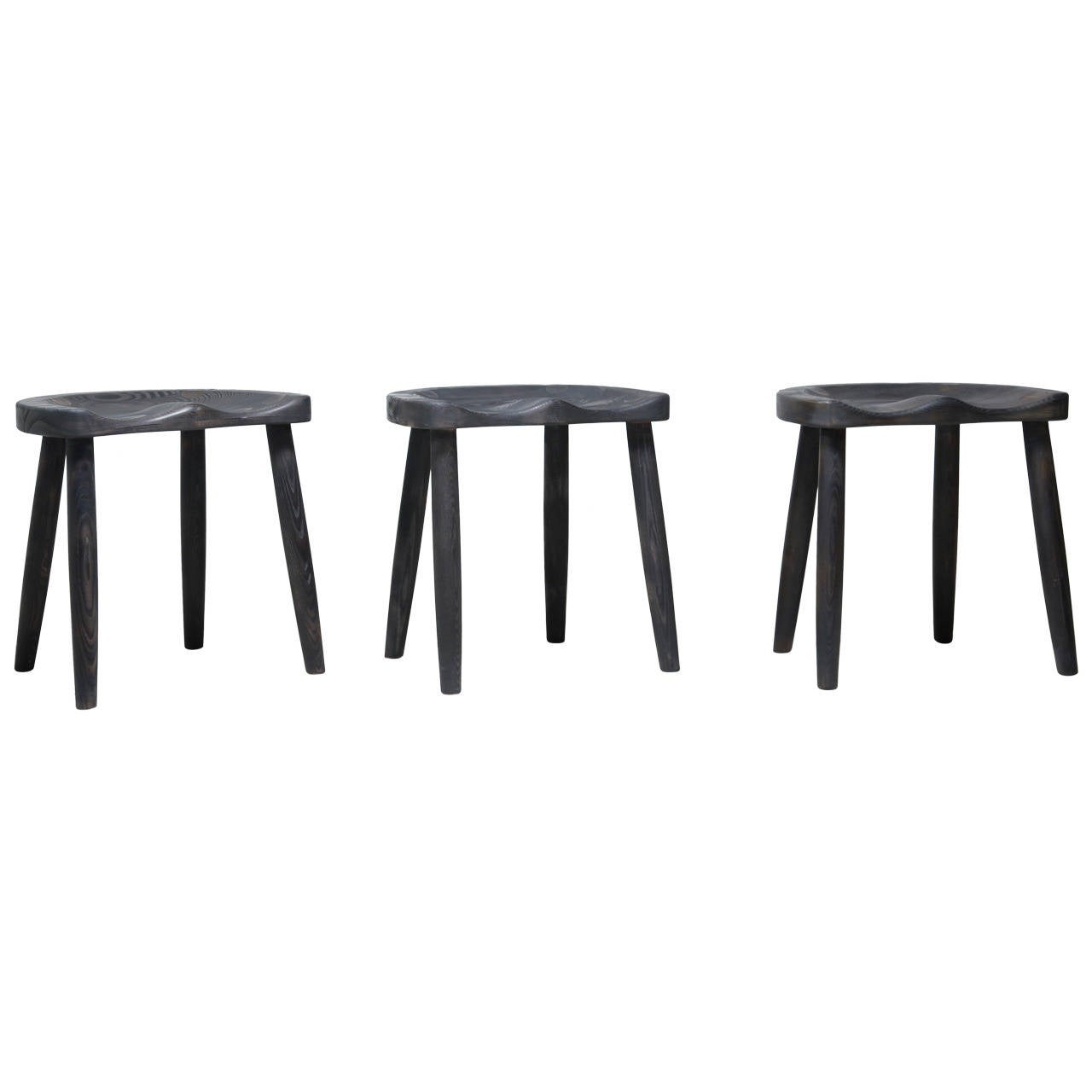 Studio Stools in Blackened Wood by Robert Roakes, USA