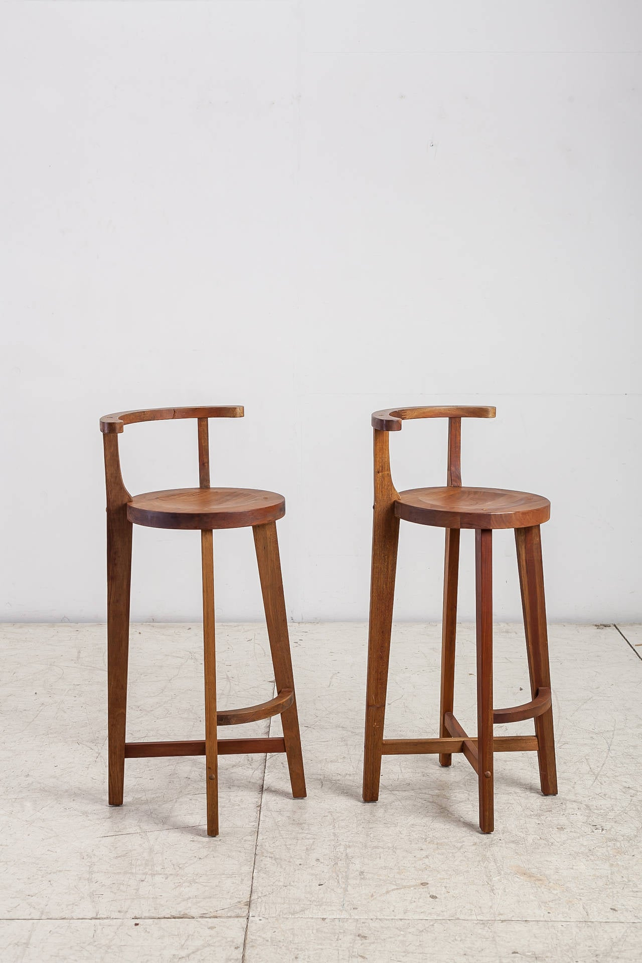 wooden bar stool chairs ergonomic chair harvey norman pair studio crafted stools with rounded back