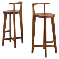 Wooden Bar Stool Chairs Cool Hanging For Bedrooms Pair Studio Crafted Stools With Rounded Back