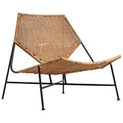 Wicker Lounge Chair Ikea Childrens Desk And Set Arthur Umanoff Rattan At 1stdibs