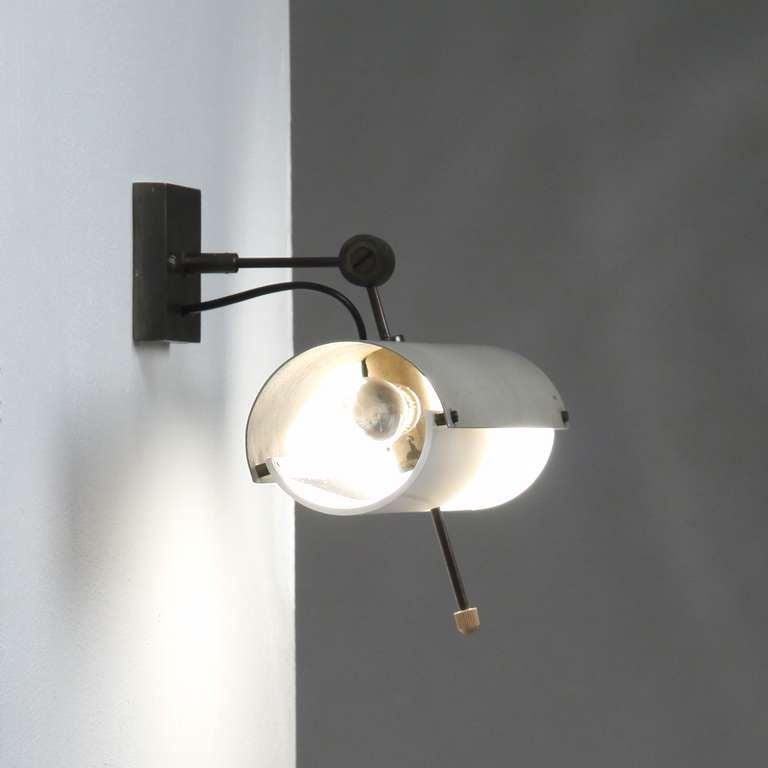 Adjustable wall / reading lamp at 1stdibs