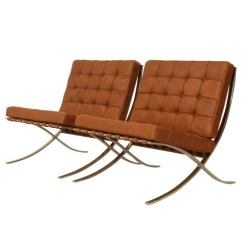 Barcelona Chairs For Sale Foldable Rocking Chair Pair Original 1st Knoll Edition 1950s At