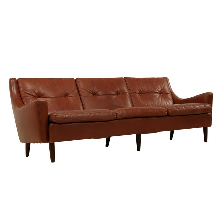 mogensen sofa 2209 pet sofas danish brown leather sofa, in the manner of borge ...