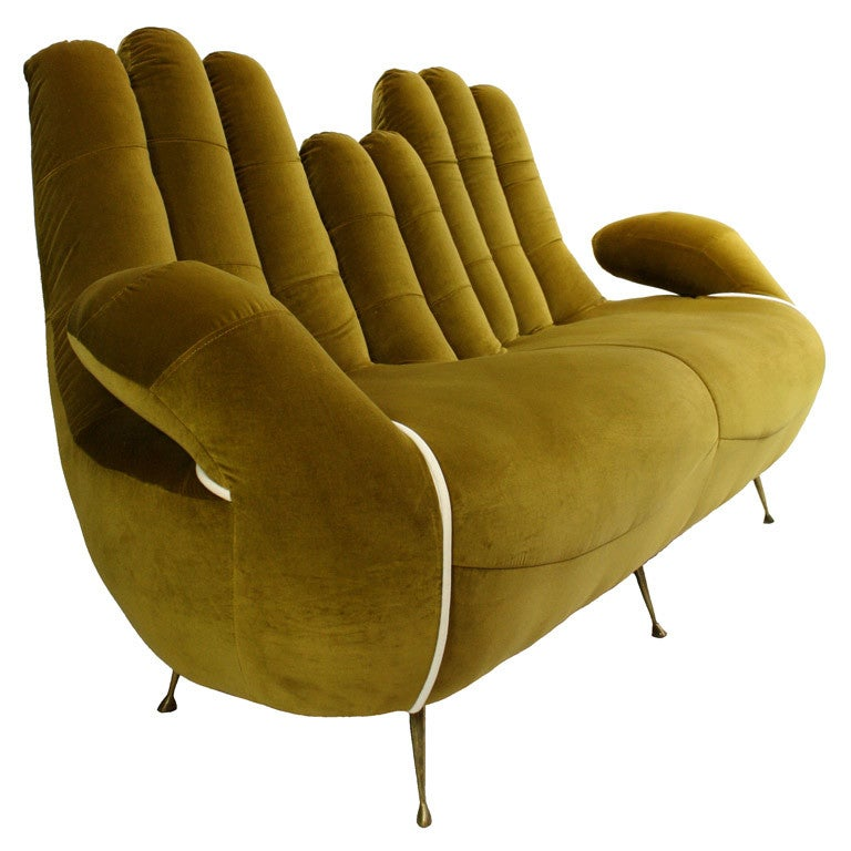 de sede sofa vintage cotton duck slipcover t cushion an italian 50's-60's in the form of cupped hands at ...