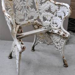 Antique Cast Iron Garden Table And Chairs Overstock Arm Chair Furniture Quotfern Quot Model At 1stdibs