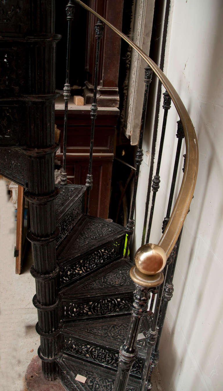 Antique Spiral Staircase Made of Cast Iron, 19th Century