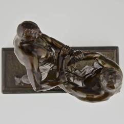 Wrestling Chairs For Sale Euro Rv Antique Sculpture Of Two Wrestlers Germany 1910 At 1stdibs