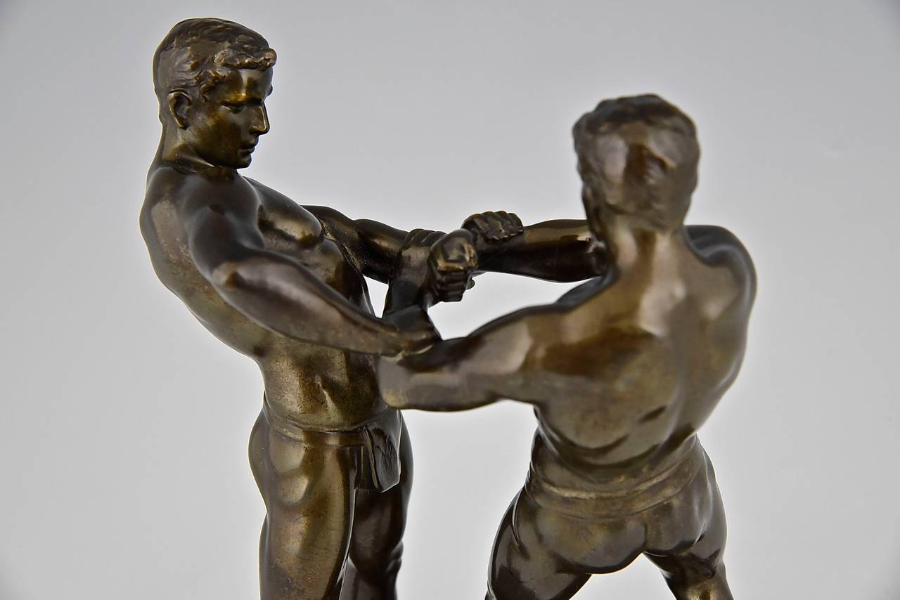 wrestling chairs for sale velvet chair and a half antique sculpture of two wrestlers germany 1910 at 1stdibs