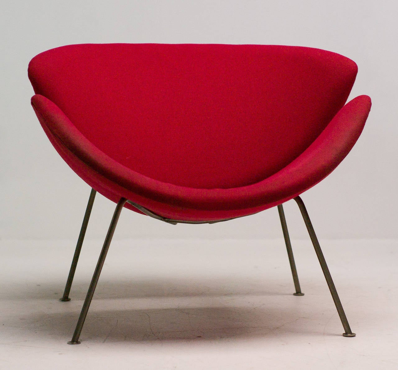 orange slice chair design revolving original early by pierre paulin for