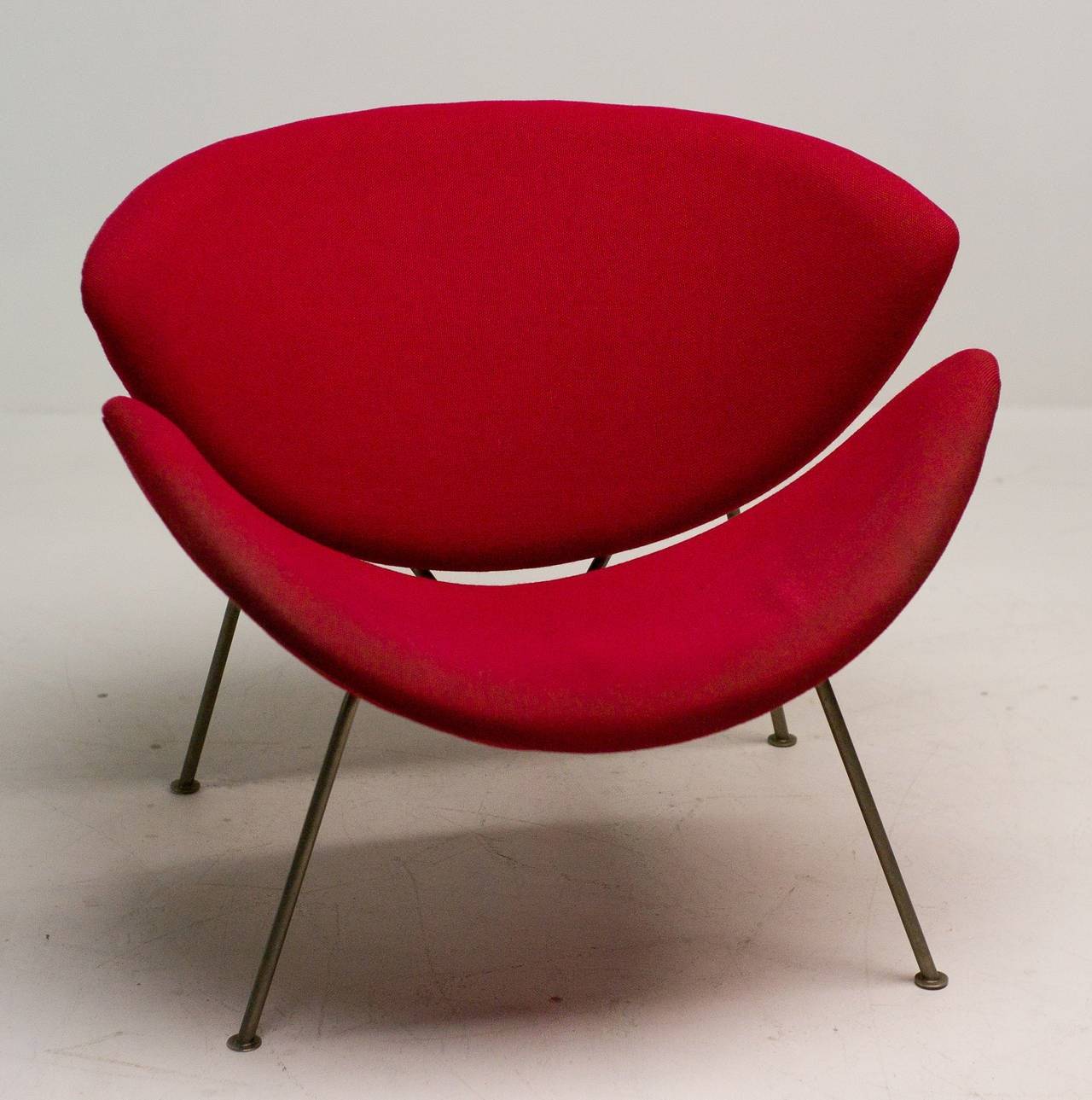 orange slice chair pride lift hand control original early by pierre paulin for