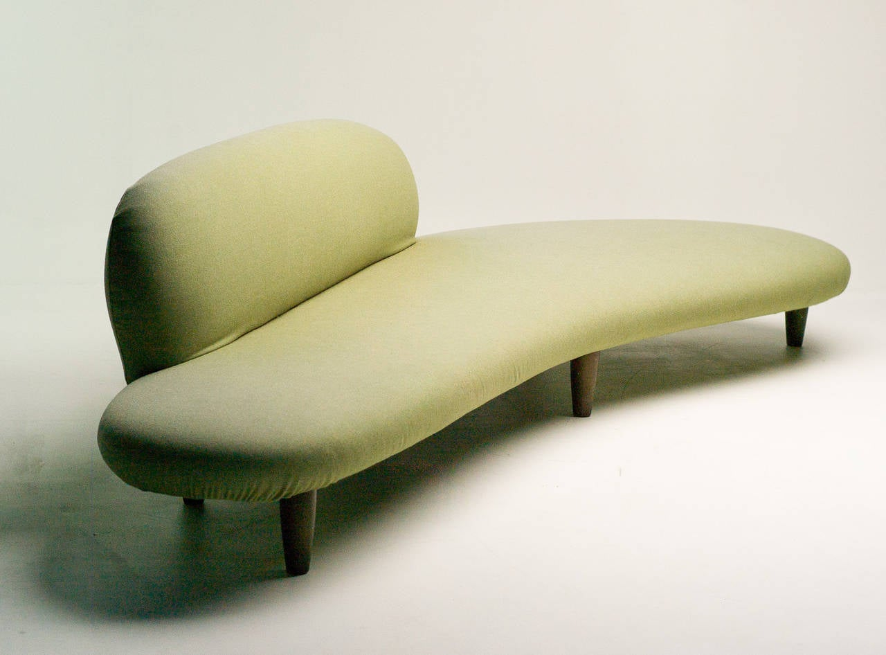 noguchi freeform sofa vitra beds small in green wool by isamu for at
