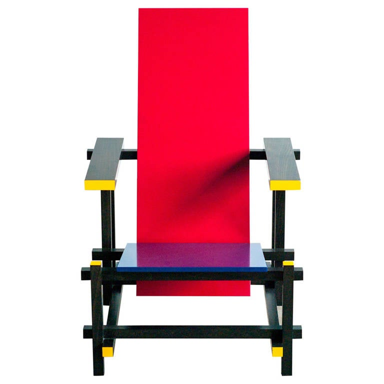 gerrit rietveld crate chair spray painting dining room chairs red blue by at 1stdibs