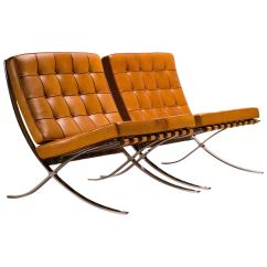 Barcelona Chair Used Plastic Beach Chairs In Saddle Leather By Mies Van Der Rohe