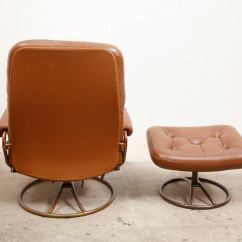 Swivel Club Chair With Ottoman Herman Miller Embody Used Bruno Mathsson Lounge At 1stdibs