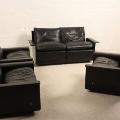 Eames Style Lounge Chair And Ottoman Rosewood Black Leather Silver Covers Uk Dieter Rams 620 Programm Vitsoe At 1stdibs
