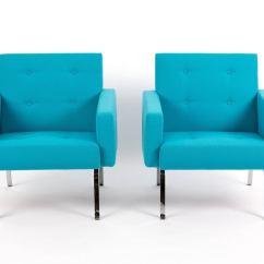Revolving Easy Chair Air Ski Artifort 461 465 Serie Of Dutch Design In Blue Wool At 1stdibs