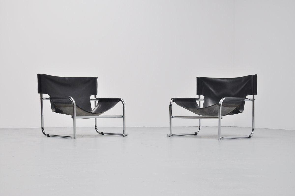 easy chair nadir steel chrome office high rodney kinsman t1 sling lounge chairs bieffeplast 1967 at
