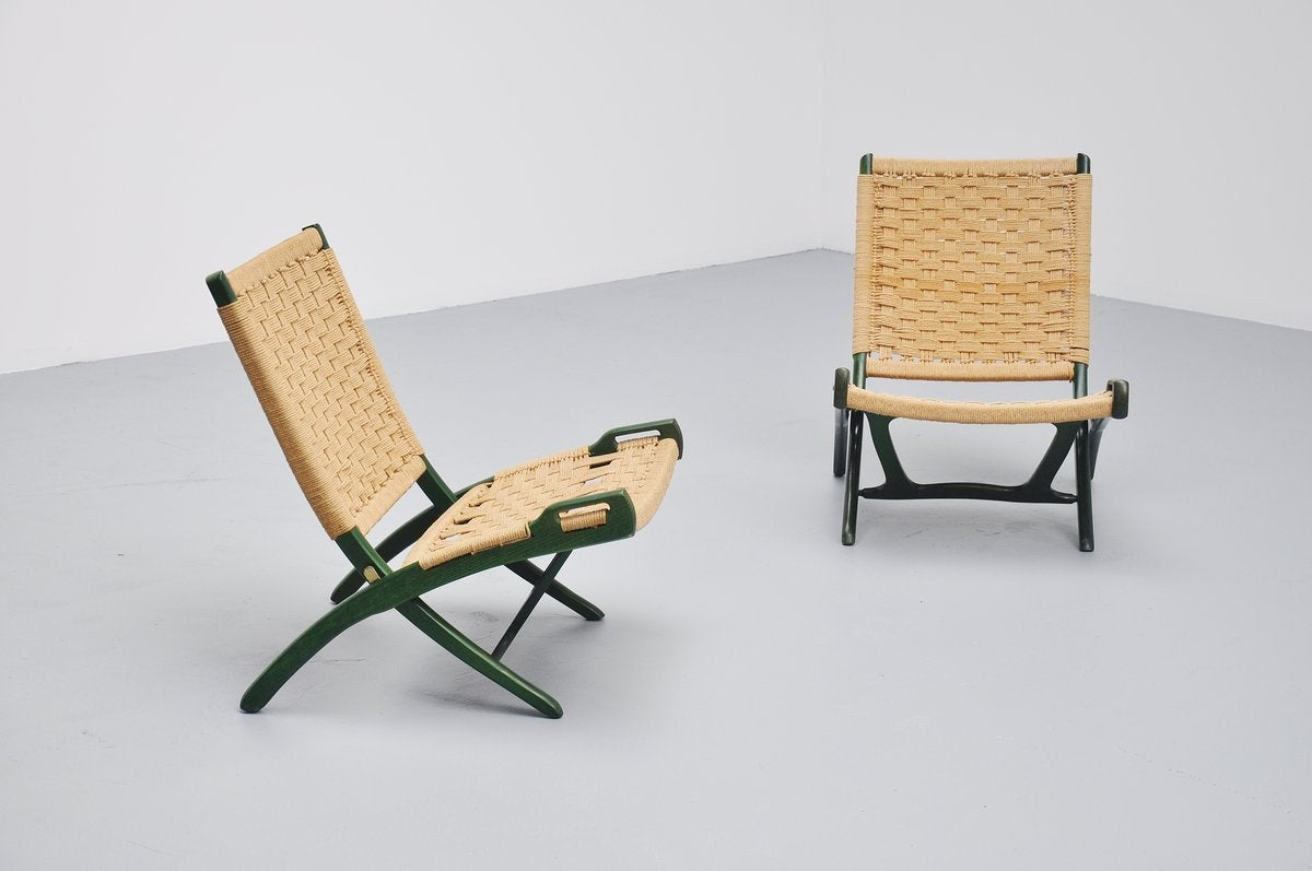 Nice Folding Chairs Ebert Wels Folding Chairs Uk 1960 At 1stdibs