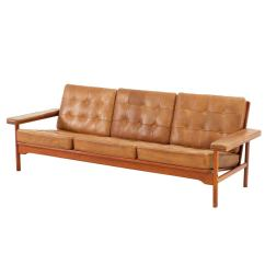 Dining Chair Styles Antique Glider Rocking Covers Natural Cognac Leather Tufted Sofa With Wonderful Frame At 1stdibs