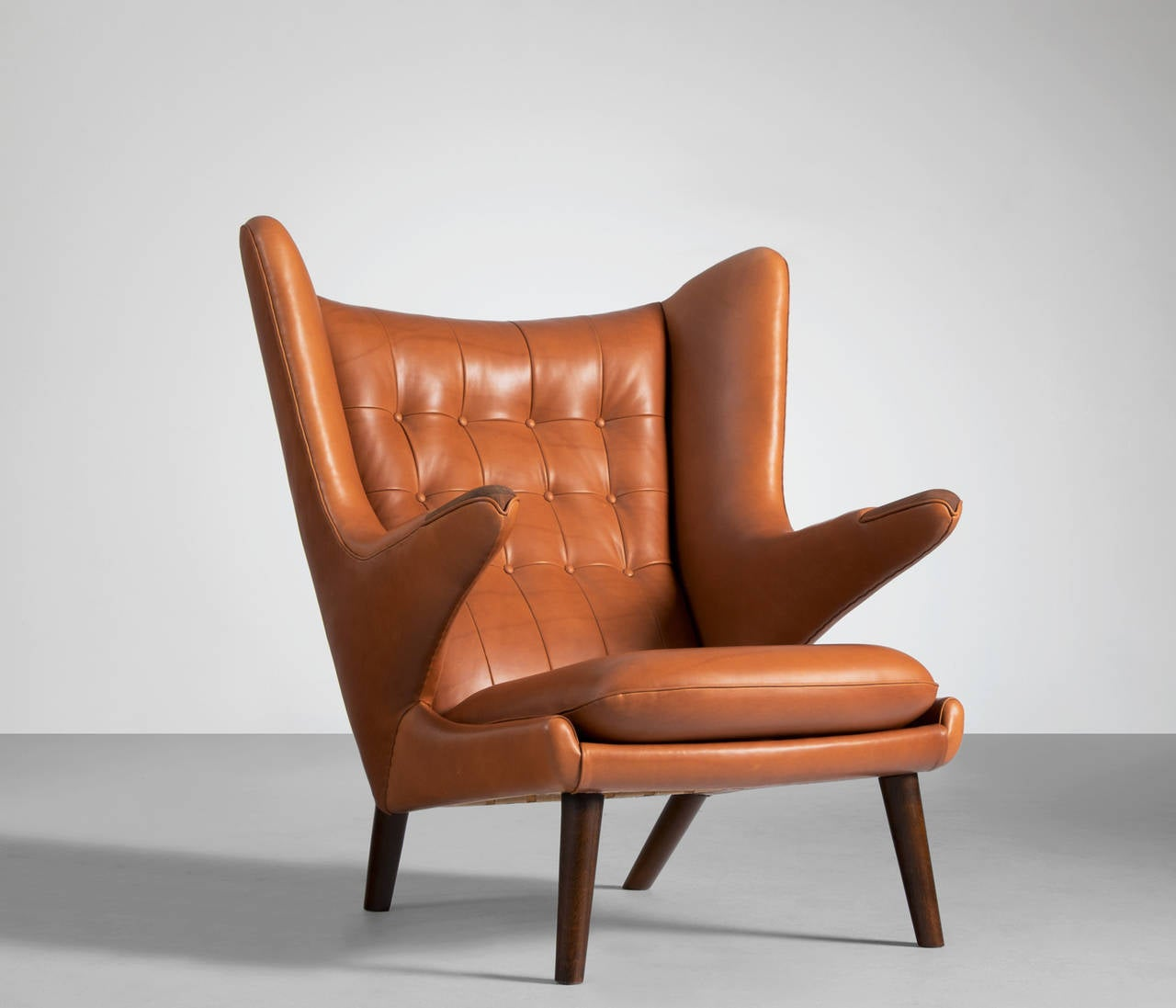 Papa Bear Chair Papa Bear Lounge Chair By Hans J Wegner In Cognac Leather