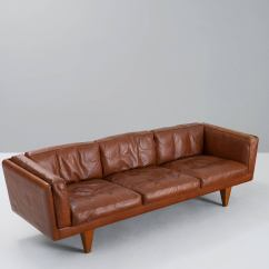 Down Filled Leather Sectional Sofa Classic Brands Sleeper Memory Foam Mattress Illum Wikkelsø Three Seat In Brown And