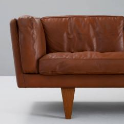 Down Filled Leather Sectional Sofa Loft Illum Wikkelsø Three Seat In Brown And