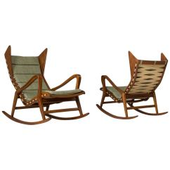 Rocking Chair For Two Barber Set Of Italian Chairs Cassina Sale At