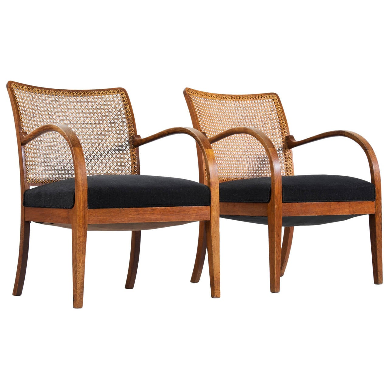 cane easy chair diy swing frits henningsen armchairs in oak and for sale at 1stdibs