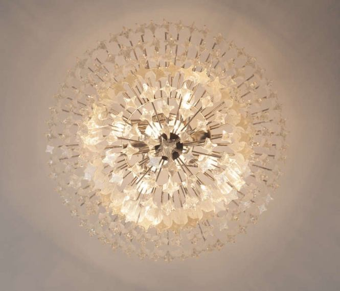 Mid Century Modern Large Set Of Venini Chandeliers For