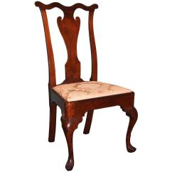 Queen Ann Chairs Bistro Table Philadelphia Anne Walnut Side Chair C 1755
