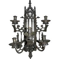 Gothic 5-Arm Sconce For Sale at 1stdibs