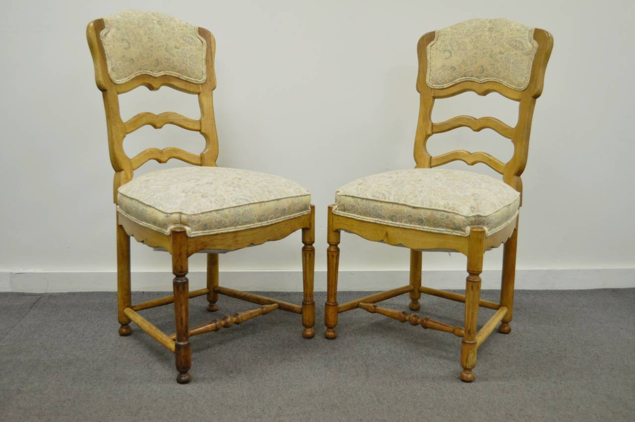 ladder back dining chairs french country leather swing chair six style carved and upholstered