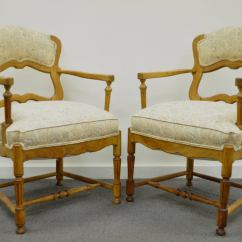 French Country Dining Chairs With Arms Fold Up Reclining Lawn Six Style Carved And Upholstered Ladder Back At 1stdibs