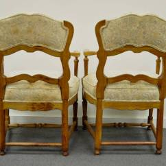 Ladder Back Dining Chairs French Country White Childs Rocking Chair Six Style Carved And Upholstered
