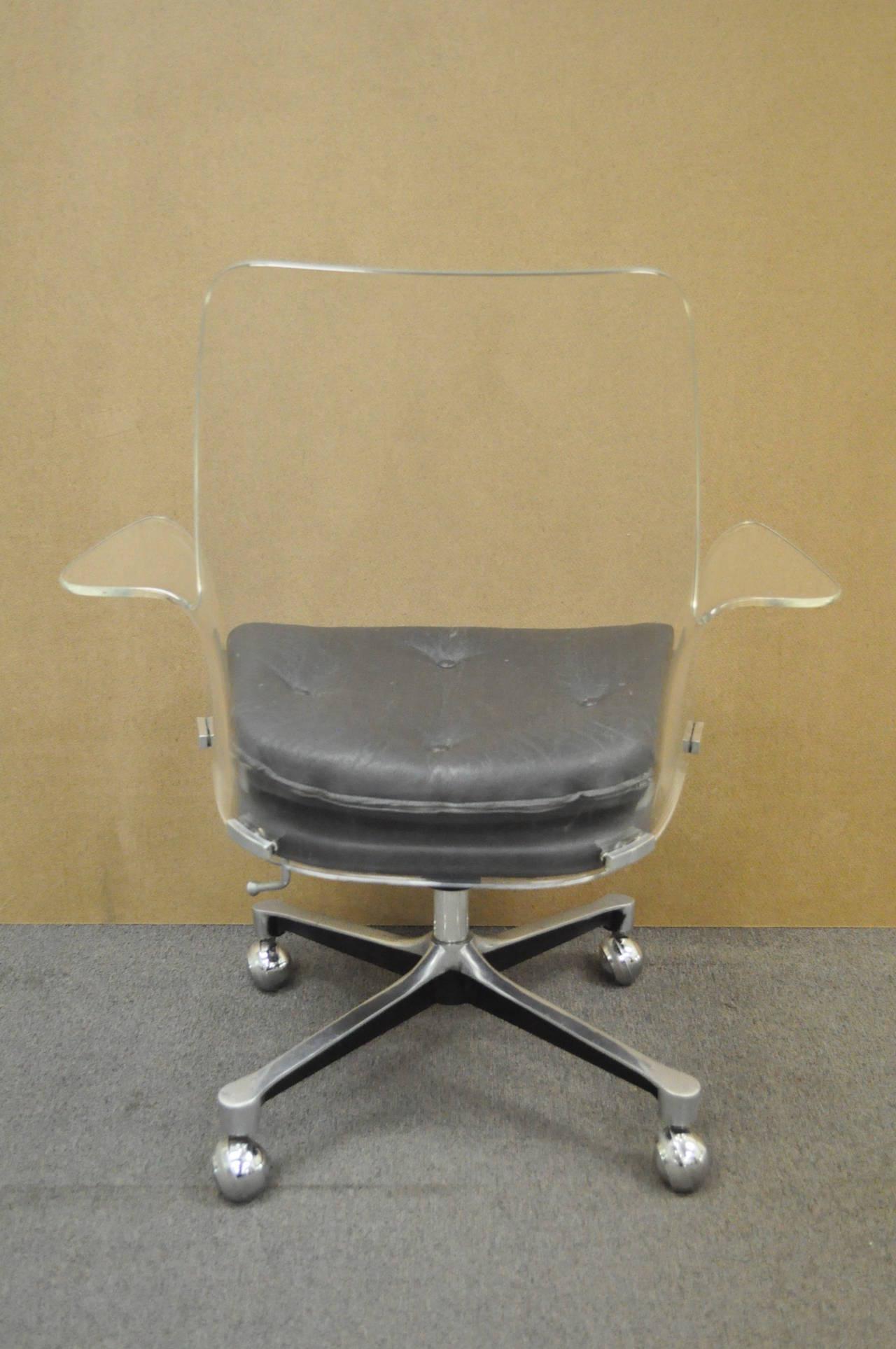 Clear Acrylic Desk Chair Swivel