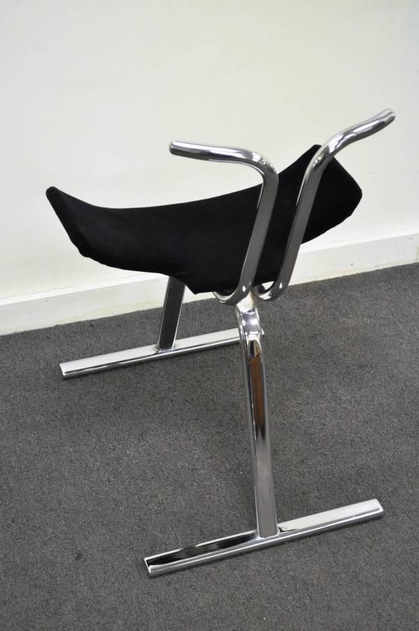 Mid Century Modern Chrome Dining Chairs