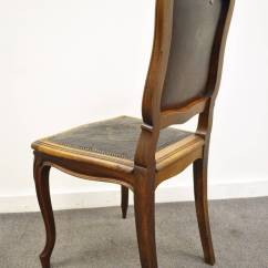 French Louis Chair Swing Gold Coast Xv Style Walnut Accent With Embossed