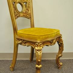 Desk Chair Gold Country Dining Room Chairs French Baroque Style Gilt Vanity Or With