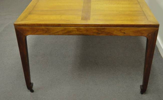 Baker Far East Collection Walnut Banded Dining Table With