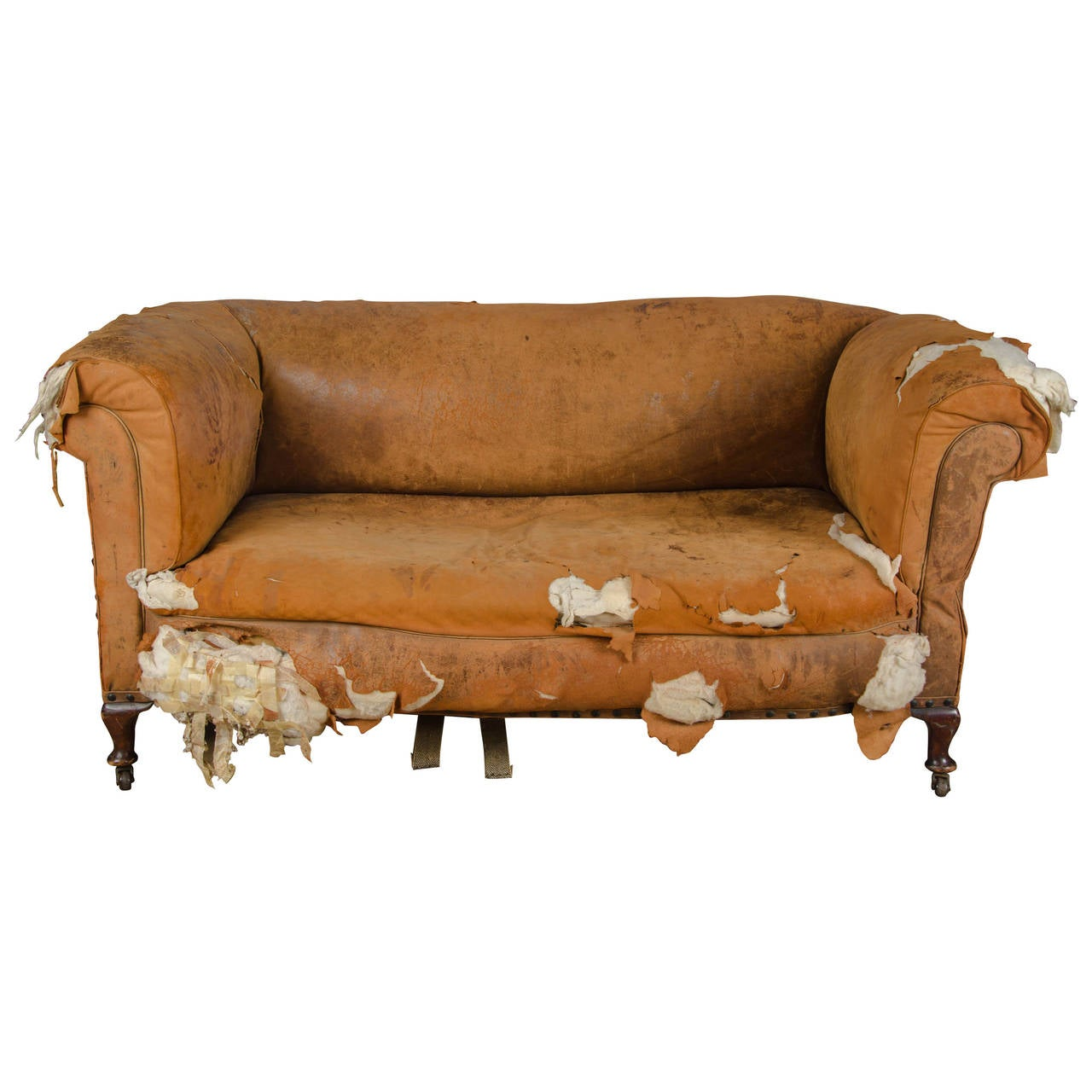 distressed leather dining chairs uk party chair covers buy antique victorian drop end sofa at 1stdibs