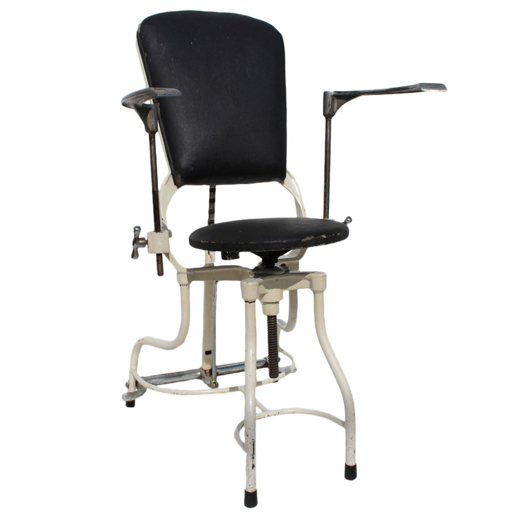 antique dentist chairs chair and a half slip cover dental at 1stdibs