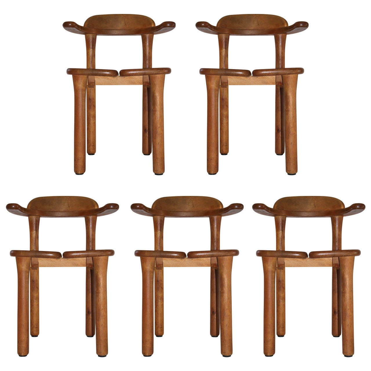 Five Chairs Set Of Five Chairs Edited And Signed By Bio France