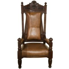 Black Throne Chair Circle Bungee Target Mahogany And Leather Masonic At 1stdibs