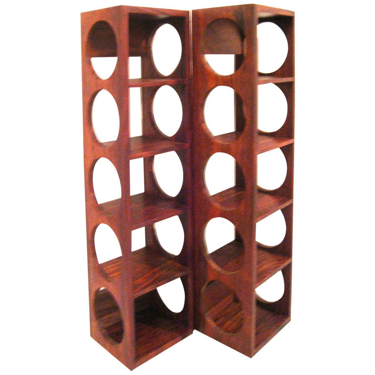 wall mounted chair rack stool office danish modern rosewood set of wine racks at