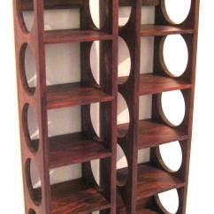 Wall Mounted Chair Rack Office Cushion For Back Pain Danish Modern Rosewood Set Of Wine Racks At
