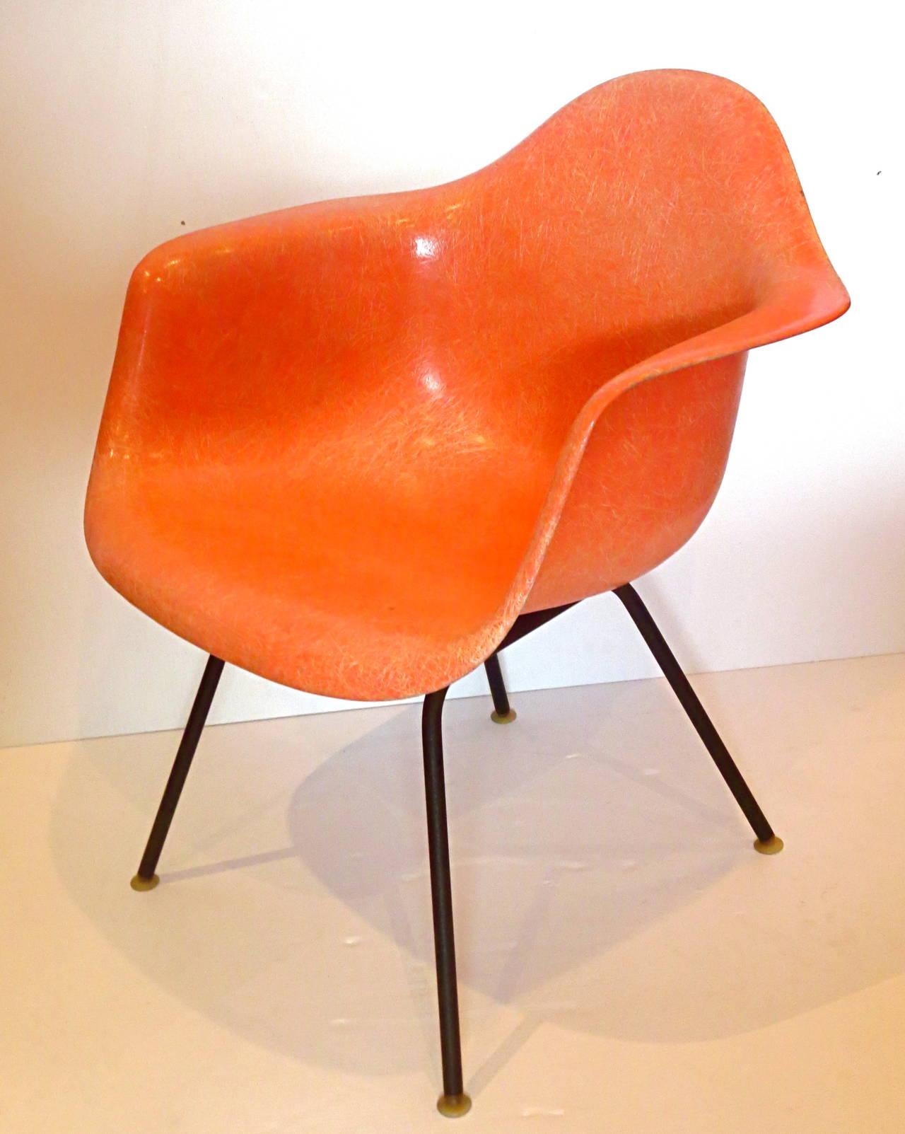 fiberglass shell chair baby portable high 1950s american modern eames arm for