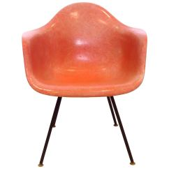 Eames Arm Chair Burlap Sash 1950s American Modern Fiberglass Shell For