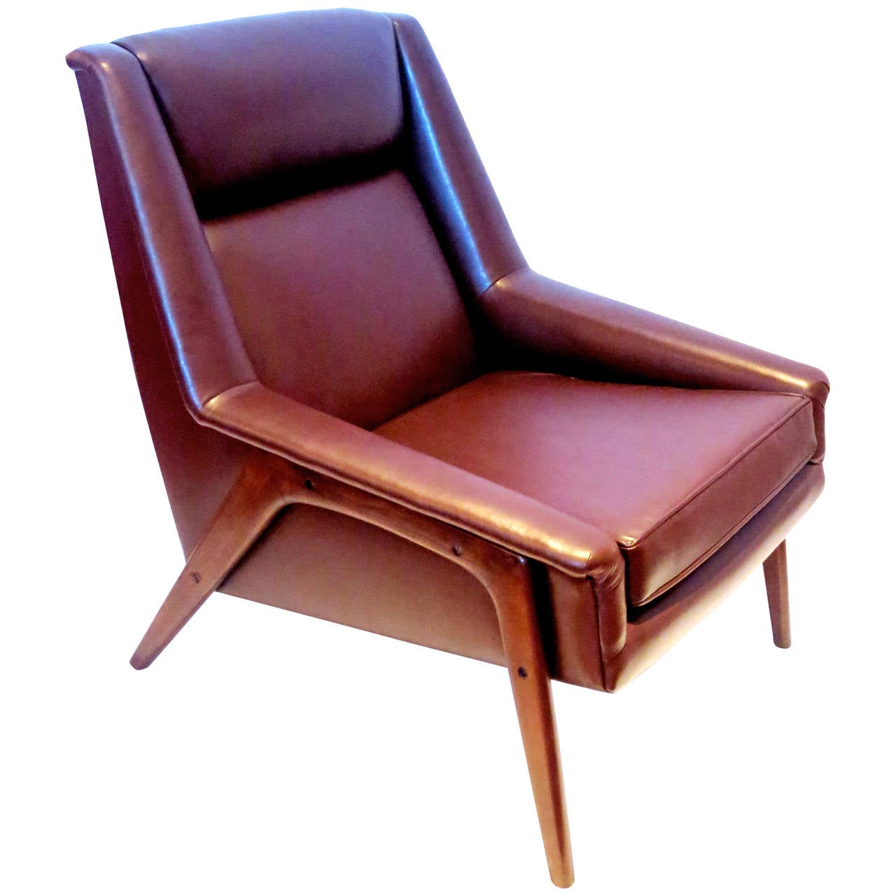 modern leather lounge chair images hd png danish brown by dux designed