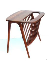 American Midcentury Solid Walnut Cocktail Table and ...