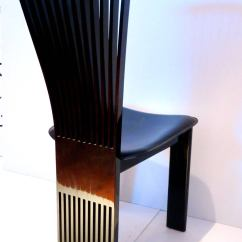 Black Folding Table And Chairs Set Chair Covers Wedding Edinburgh Four Italian Fan Back By Pietro Costantini In Lacquered Wood Leather At 1stdibs